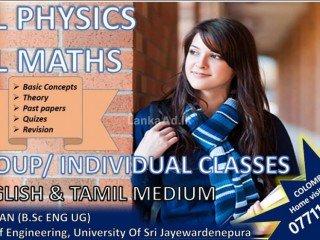 A/L Physics & O/L Maths Classes