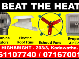 Roof exhaust fans srilanka , wall Exhaust fans  Srilanka  roof ventilators,