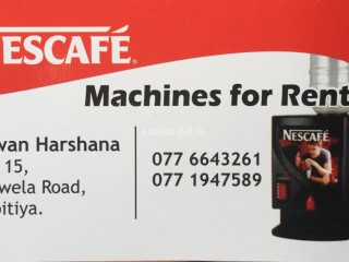 NESCAFE MACHINES FOR RENT IN KANDY
