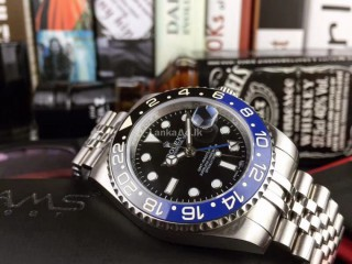 Rolex GMT II Batman Edition (Black/Blue Bezel) Wrist Watch for Men