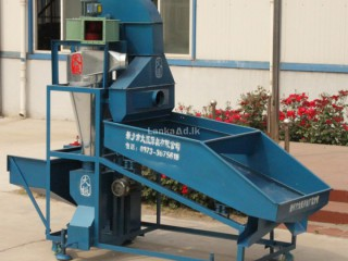 DZL-10 dust free grain cleaning machine for sale with cyclone dust separator and bucket elevator
