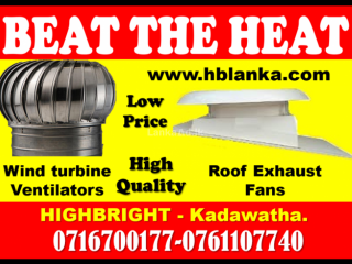 Exhaust fans srilanka  ,wind turbine ventilators srilanka ,roof exhaust fans, turbine ventilators, ventilation systems