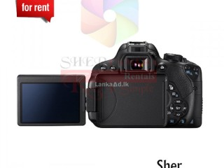 Canon EOS 700D For Rent